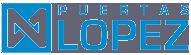 Logo de puertas lopez